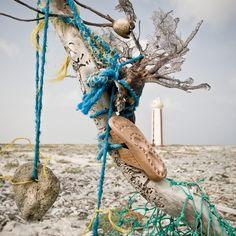 marine debris sculpture