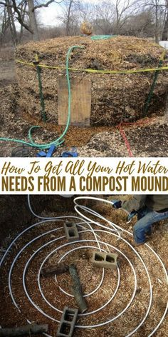 How To Get All Your Hot Water Needs From A Compost Mound - Did you know that when compost breaks down it produces heat? With this heat you can warm up water in the pipes that run through the compost. Obviously the more pipe and the more compost you have the more warm water you get.