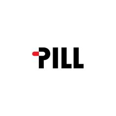 """Genius use of negative space in the #logo """"Pill"""" - designed by Andrei Robu, Romania"""