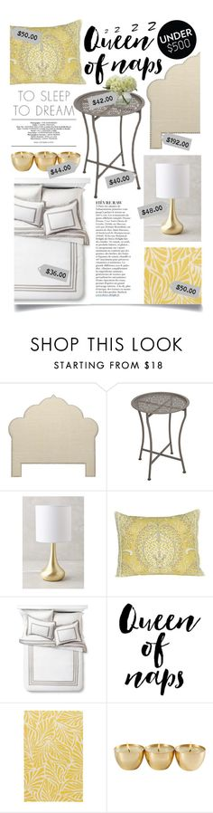 """""""Upgrade Your Bedroom With $500"""" by ittie-kittie on Polyvore featuring interior, interiors, interior design, home, home decor, interior decorating, Dar, Anthropologie, Dena Home and Jaipur Rugs"""