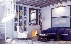 #inspo #interior #hotelcort #bluewhite