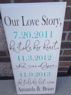 NEW Our love story he stole her heart she's by OneChicShoppe, $45.00