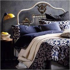 Indigo Gold Bedroom Linen Bedding Blue