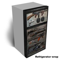 Armory Refrigerator Wrap. Make you fridge look like this. Click here to order.