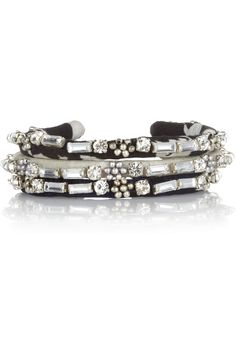 Isabel Marant | Marchisette set of three silk and crystal bracelets
