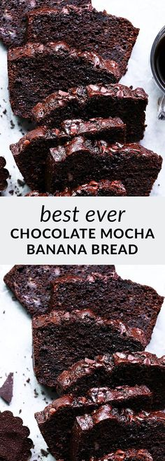 Mocha banana bread is a delicious twist on classic banana bread! With rich mocha flavor and a delicious chocolate chip topping, you'll love this easy bread. Delicious Chocolate, Chocolate Flavors, Chocolate Recipes, Unique Desserts, Fun Desserts, Best Dessert Recipes, Snack Recipes, Breakfast Recipes, Chocolate Banana Bread