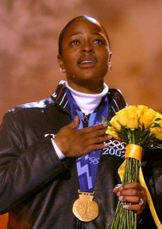 Vonetta Flowers - Bobsled  First African American to win a gold medal in the winter Olympics.
