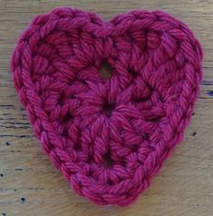 Be my Valentine Crochet pattern by Agrarian Artisan Free Heart Crochet Pattern, Crochet Squares, Free Pattern, Crochet Appliques, Granny Squares, Quick Crochet, Free Crochet, Crochet Hats