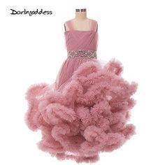 Nube Muchachas de Flor se Viste para el Vestido de Boda Del Desfile de Vestidos de Primera Comunión para Niñas de Partido Atractivo Vestido de Fiesta 2017