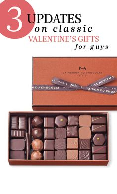 3 Updates on Classic Valentine's Day Gifts for Guys | Martha Stewart Weddings - Keep it simple by gifting something sweet, something fragrant, and something experiential.