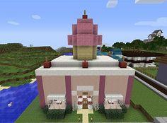Sweet Stuff Bakery Minecraft Project - Vi will be stoked! Minecraft Bakery, Minecraft Stores, Easy Minecraft Houses, Minecraft Modern, Minecraft City, Minecraft Plans, Minecraft Decorations, Minecraft Construction, Amazing Minecraft