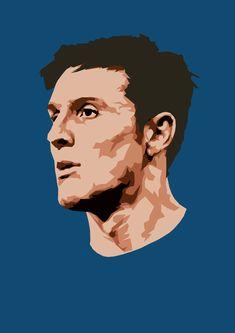 Javier Zanetti Football Heads, Football Art, Vintage Football, World Cup Draw, Football Celebrations, Football Wallpaper, Football Pictures, Scandinavian Art, Football Players