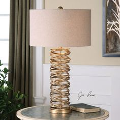 """Amarey 29.75"""" H Table Lamp with Drum Shade"""