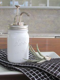 44 best mason jar soap dispenser images decorated bottles glass rh pinterest com