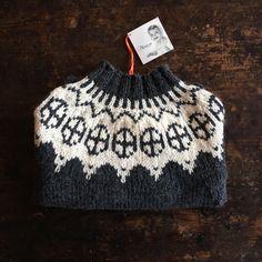 Palle wool/alpaca sweater dark Grey/White 1-4y