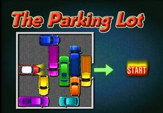 Play Parking Lot at Math Playground! Your cool red car is trapped in a parking garage. Can you escape? Preschool Math Games, Math Games For Kids, Fun Math Activities, Parking Lot, Parking Space, Car Parking, Geometry Games, Math Meeting, Grid Game