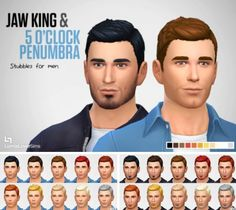 Lumia Lover Sims: Jaw King & 5 O'Clock Penumbra Stubble • Sims 4 Downloads