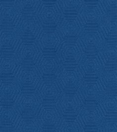 Upholstery Fabric- HGTV HOME Hex Appeal Cobalt 57 inches wide, 70 percent cotton - 30 polyester