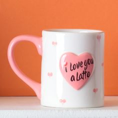 I Love You a Latte Mug.  Bisque decorating.  Paint your own pottery idea /tutorial/project from Duncan Ceramics.  Ideal for Mother's Day