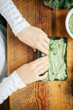 Nori Rolls with Edamame Wasabi Spread