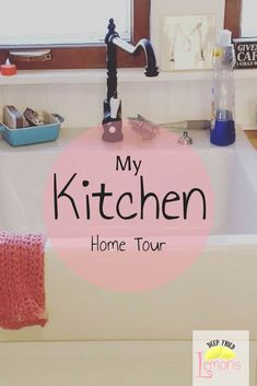 Tour my ever changing kitchen! New pictures added regularly so subscribe so you can stay up to date! #farmhouse #cottage  farmhouse, kitchen, kitchen decor, affiliate links, farmhouse sink, ikea cabinets, ikea sink, open shelving, pink kitchen finds, smeg toaster, kitchenaid  via @https://www.pinterest.com/deepfriedlemons/pins/