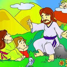 dibujos de Jesús enseñando a los niños Luz Natural, Jesus Loves Me, Bowser, Fictional Characters, Holy Quotes, Savior, Google Search, Crafts For Children, Drawings