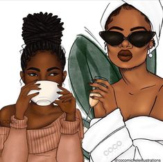 Happy Sunday ✨ What're you having with brunch today? Coffee ☕️ or Champagne 🥂 Circuit Design, Black Image, Magic Art, Black Artists, African American Art, Cool Cartoons, Happy Monday, Happy Saturday, Fashion Sketches