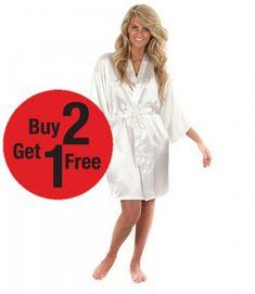 Satin Shorts, Bridesmaid Robes, Silk Satin, Wedding Bride, Beautiful Dresses, Kimono, Bath, Free Shipping, Weddings