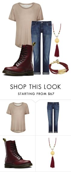 """October 29th 2016"" by lorelei-is-me ❤ liked on Polyvore featuring Samsøe & Samsøe, DL1961 Premium Denim, Dr. Martens, Ben-Amun and GUESS"