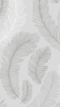 I Love Wallpaper Plume Feather Wallpaper Grey, Silver - Feather Wallpaper, Rose Gold Wallpaper, Iphone Background Wallpaper, Tumblr Wallpaper, Love Wallpaper, Aesthetic Iphone Wallpaper, Screen Wallpaper, Pattern Wallpaper, Aesthetic Wallpapers