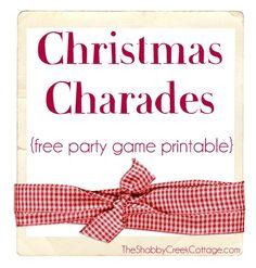 Christmas Charades.