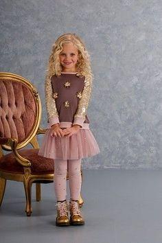 Kate Mack Rhinestone Cocoa Leggings Preorder