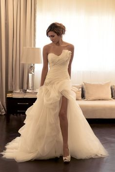 High Low Wedding Dresses 2016 Corset Ruched Tulle Bridal Gowns Elegant Long Beaded Gothic Dress For Brides