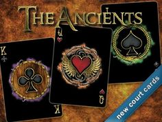 The Ancients Bicycle® Playing Cards Deck by Brian Hakes, via Kickstarter. The Ancients is a Celtic/Norse inspired Bicycle® playing card deck. 56 cards, unique design with custom fronts and backs.