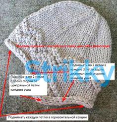 Круглая шапочка от Mary Ann Stephens отличается тем, что у неё есть ушки, прикрывающие уши от мороза и ветра. Такая особенность объяснима для северных стран Скандинавского полуострова – там холодно. По этой же причине вяжется шапочка из толстой шерстяной пряжи.