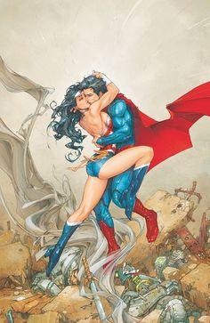 ArtVerso,,,,//// Source by sandroabelardo... Wonder Woman Art, Superman Wonder Woman, Wonder Woman Kunst, Wonder Woman Comic, Wonder Women, New 52, Batman Et Superman, Batman Arkham, Batman Art