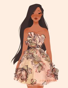 """punziella: """" Pocahontas wearing Elie Saab almost forgot about this so i'll just post it now lol """""""