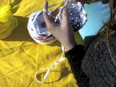 Crocheting with plastic shopping bags!!  How thrifty & adorable too!