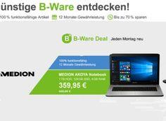 Aldi-Notebook: Medion Akoya E7420 jetzt als B-Ware für 359,95 Euro frei Haus https://www.discountfan.de/artikel/technik_und_haushalt/aldi-notebook-medion-akoya-e7420-jetzt-als-b-ware-fuer-35995-euro-frei-haus.php Im August letzten Jahres kostete es bei Aldi noch 499 Euro, jetzt wird es als B-Ware mit 140 Euro Rabatt verschleudert: Das Aldi-Notebook Medion Akoya E7420 (MD 99890) ist bei Allyouneed für 359,95 Euro frei Haus zu haben. Aldi-Notebook: Medion Akoya E7420 jetzt