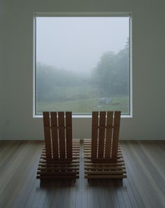 Large window for taking in the fog.