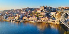 Panorama of Porto with famous Dom Luis bridge. Fine Hotels, Instagram Worthy, City Break, Heritage Site, Tour Guide, Luxury Travel, Beautiful Beaches, San Francisco Skyline, Travel Inspiration