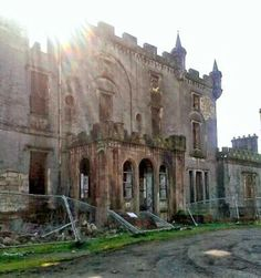 Caldwell House, Uplawmoor, East Renfrewshire, Scotland. Built in the 1770s, it was a family manor until the 1920s when it became a children's hospital. Abandoned since 1985.