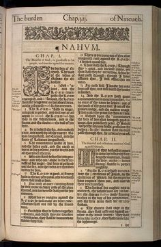 Nahum Chapter 1 Original 1611 Bible Scan, courtesy of Rare Book and Manuscript Library, University of Pennsylvania