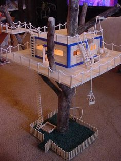 Popsicle stick craft house designs 8