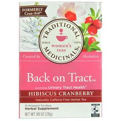 Traditional Medicinals Tea Back on Tract Hbscs Crnbrry (6x16 Bags)