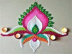 Small, Easy and Quick Rangoli Designs for Deepawali Rangoli Designs Latest, Simple Rangoli Designs Images, Rangoli Border Designs, Rangoli Designs Diwali, Diwali Rangoli, Rangoli Designs With Dots, Rangoli With Dots, Beautiful Rangoli Designs, Kolam Designs