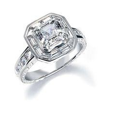 Royal Asscher Cut Engagement Ring model CRBR30SED
