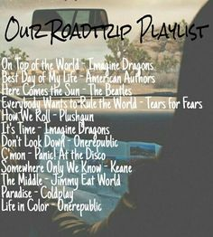 Build a playlist for your thrifty weekend if your trip calls for a long or not so long car ride.