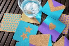 DIY home crafts DIY Create Chic and Colorful Cork Coasters DIY home crafts