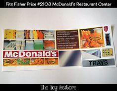 #FisherPrice #VintageFisherPrice #FunwithFood #80stoys #90stoys #80s #90s #PlayKitchen #PretendPlat #OldtoNew #McDonalds #Playkitchen #PlayRestaurant #Fisherpricefunwithfood #TheToyRestore